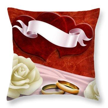 Wedding Memories V2 Passion Throw Pillow by Bedros Awak