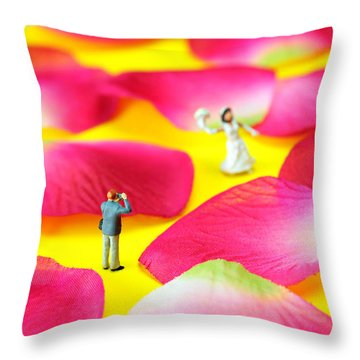 Wedding Photography Little People Big Worlds Throw Pillow by Paul Ge