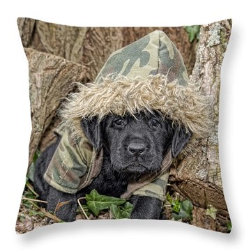 Wee Hunter Throw Pillow