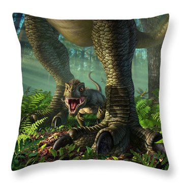Wee Rex Throw Pillow