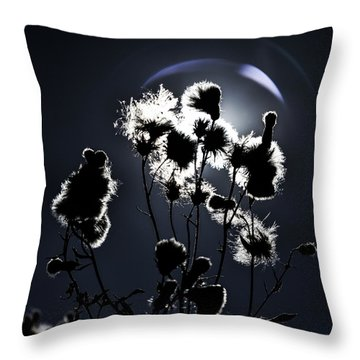 Weed Silhouette Throw Pillow