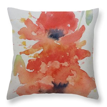 Weekend Poppies Throw Pillow