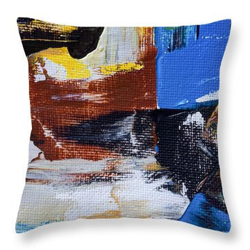 Throw Pillow featuring the painting Weekend Retreat by Heidi Smith