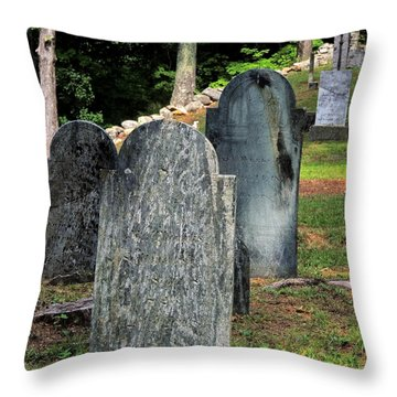 Weeks Cemetery Throw Pillow