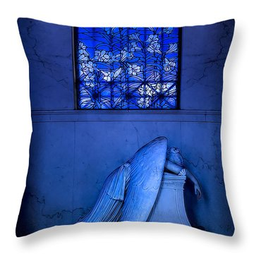 Weeping Angel Throw Pillow by Jerry Fornarotto