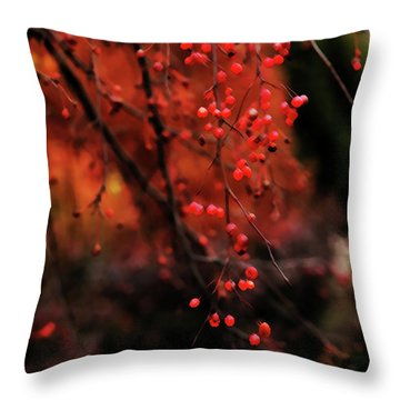 Throw Pillow featuring the photograph Weeping by Linda Shafer