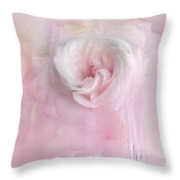 Weeping Rose Throw Pillow
