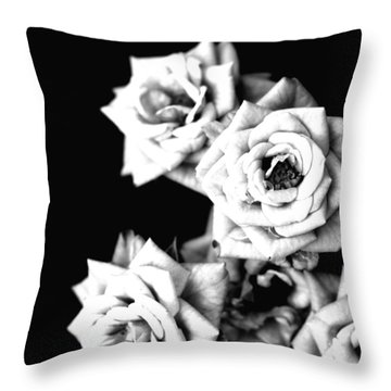 Throw Pillow featuring the photograph Weeping Roses by Rachel Mirror