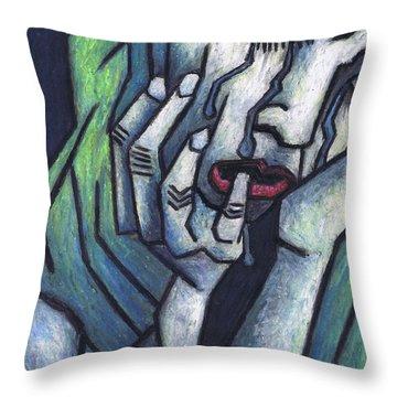 Weeping Woman Throw Pillow by Kamil Swiatek