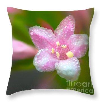 Weigela In Spring Throw Pillow