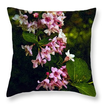 Weigela Throw Pillow