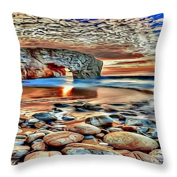 Weighed In Stone Throw Pillow