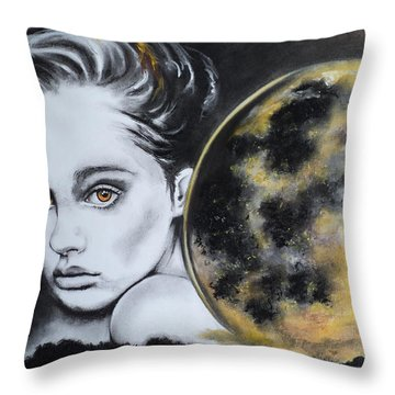 Weight Of The World Throw Pillow by Carla Carson