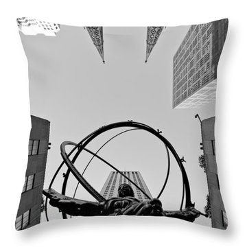 Weight Of The World Throw Pillow by Michael Dorn