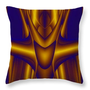 Throw Pillow featuring the painting Weightlifter by Rafael Salazar