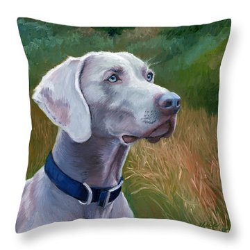 Weimaraner Throw Pillows