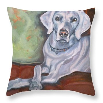 Weimaraner Reclining Throw Pillow