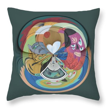 Weird Orb  Throw Pillow