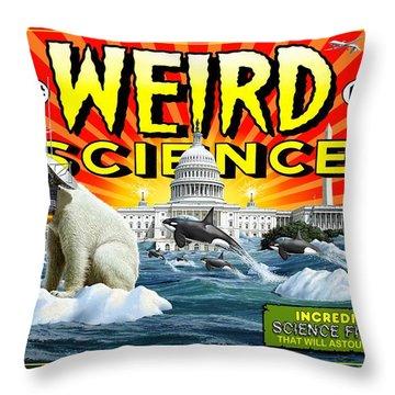 Weird Science Throw Pillow by Scott Ross