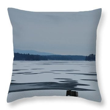 Throw Pillow featuring the photograph Weirs Beach Nh Almost by Mim White