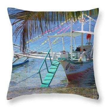 Welcome Aboard Throw Pillow