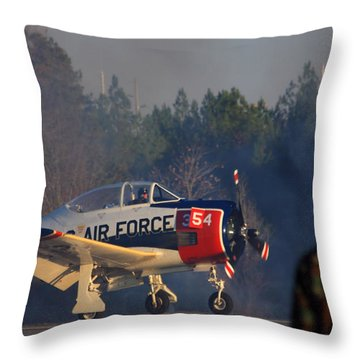 Welcome Back Throw Pillow by Karol Livote
