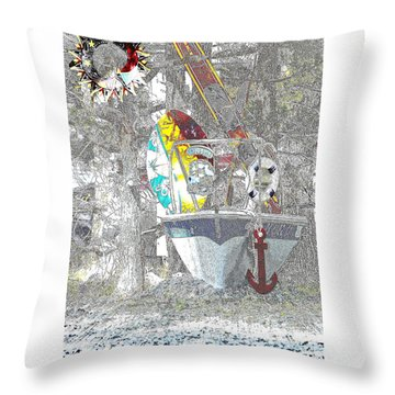 Welcome Bow Throw Pillow