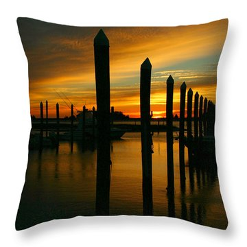 Throw Pillow featuring the photograph Welcome Sun by Phil Mancuso