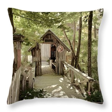 Welcome Throw Pillow by Fred Larson