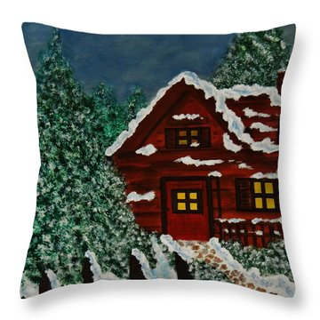 Welcome Home Throw Pillow by Celeste Manning