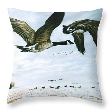 Throw Pillow featuring the painting Welcome Home by Craig T Burgwardt