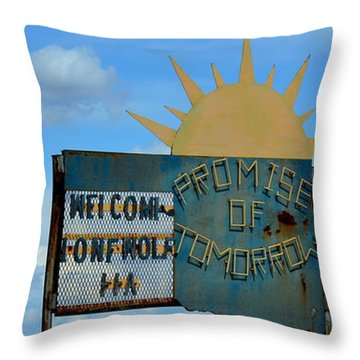 Hometown Welcome Throw Pillow