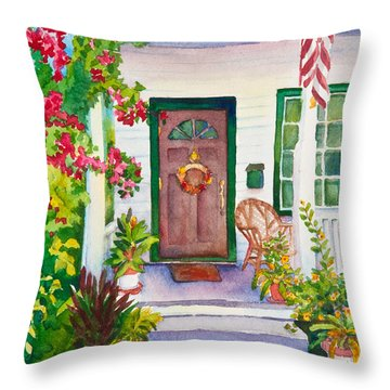Welcome Home Throw Pillow by Michelle Wiarda