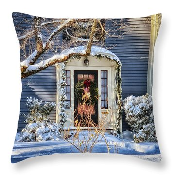 Welcome Home Throw Pillow by Tricia Marchlik