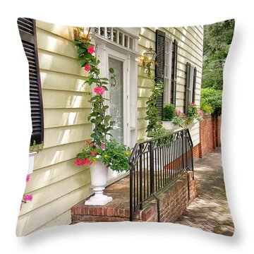 Welcome Throw Pillow by Jean Goodwin Brooks