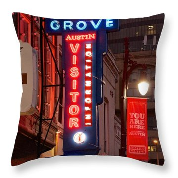 Welcome To 6th Street Throw Pillow