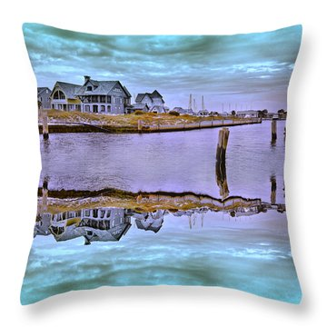 Welcome To Bald Head Island II Throw Pillow by Betsy Knapp
