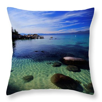 Welcome To Bliss Beach Throw Pillow