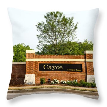 Welcome To Cayce Throw Pillow