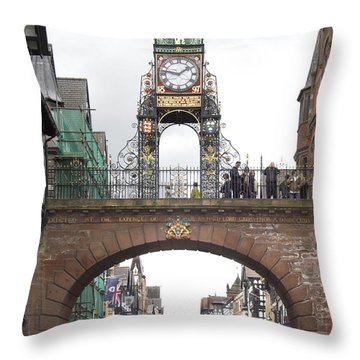 Welcome To Chester Throw Pillow by Mike McGlothlen