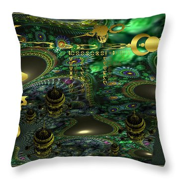 Welcome To Cosmic City Throw Pillow
