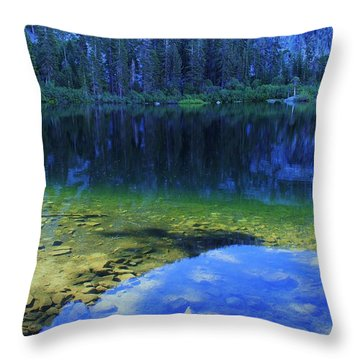 Welcome To Eagle Lake Throw Pillow