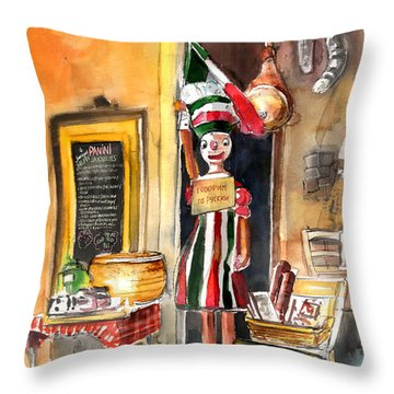 Welcome To Italy 07 Throw Pillow by Miki De Goodaboom