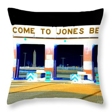 Welcome To Jones Beach Throw Pillow by Ed Weidman