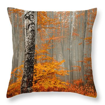 Welcome To Orange Forest Throw Pillow