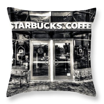 Welcome To Starbucks Throw Pillow