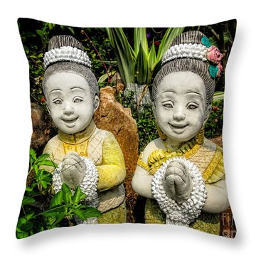 Welcome To Thailand Throw Pillow by Adrian Evans