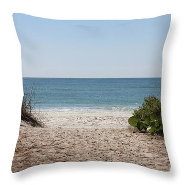 Welcome To The Beach Throw Pillow