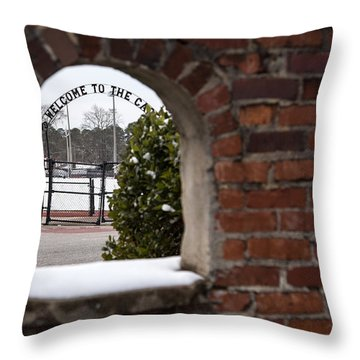 Welcome To The Cage Throw Pillow