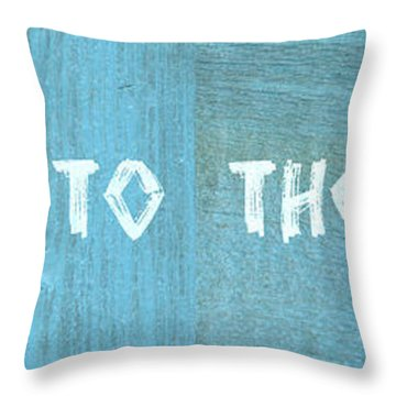 Welcome To The Cottage Throw Pillow